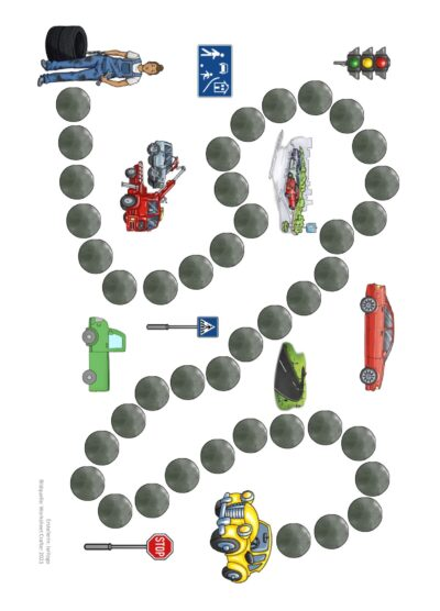 Spielfeld Autos