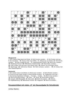 Kreuzworträtsel mit s